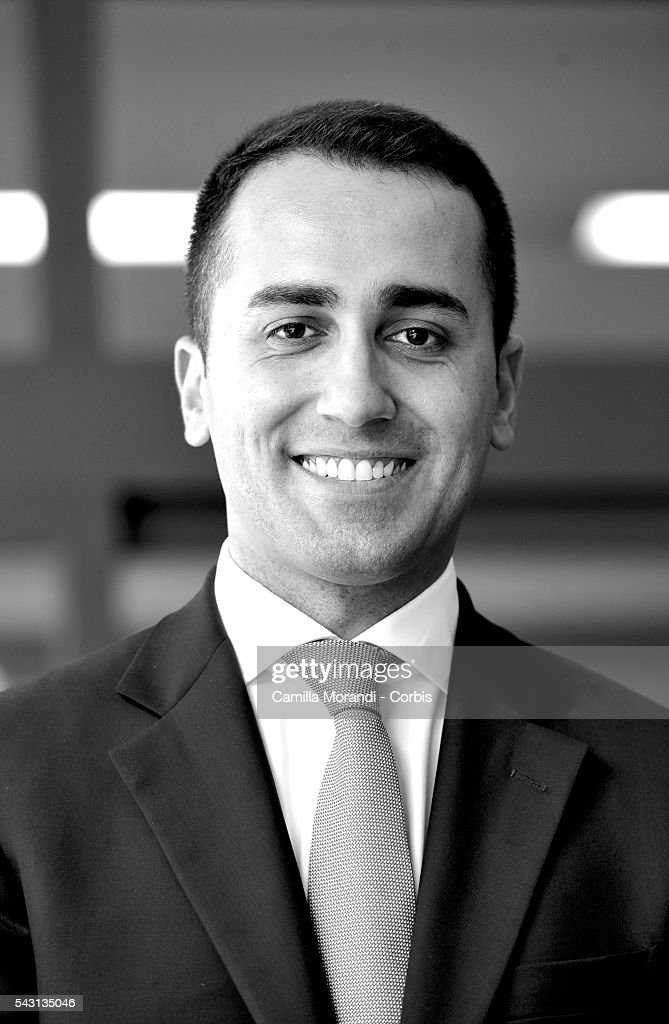 Italian Parliament and Five Star Movement member Luigi Di Maio TV Interview on June 19, 2016 in Rome, Italy.