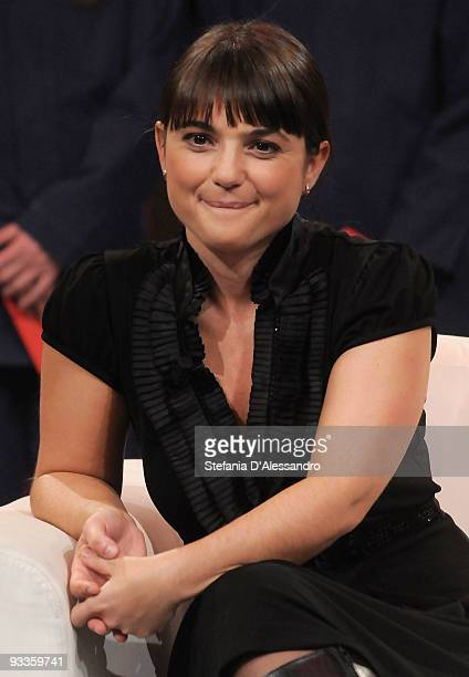 Italian Party European Deputy Debora Serracchiani attends 'Chiambretti Night' Italian Tv Show on November 24 2009 in Milan Italy