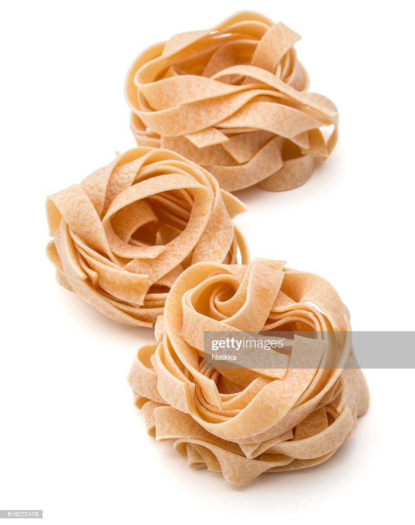 Italian pasta fettuccine nest : Stock Photo