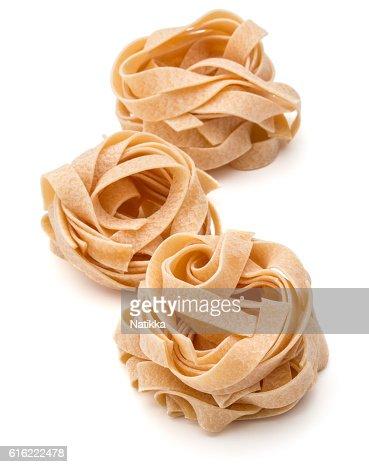 Italian pasta fettuccine nest : Stock Photo