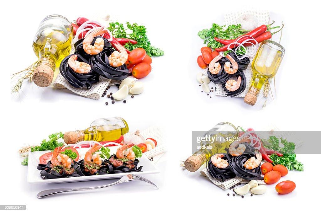 Italian Pasta with vegetables : Stock Photo