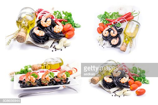 Italian Pasta with vegetables : Stock Photo