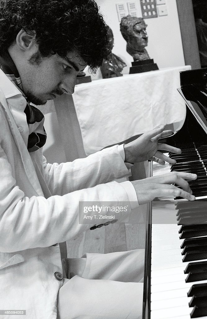 Italian pianist Federico Colli rehearses before recording his first album after winning the 2012 Leeds International Piano Competition at Champs Hill recording studio on June 26, 2013 in Coldwaltham, West Sussex, United Kingdom.