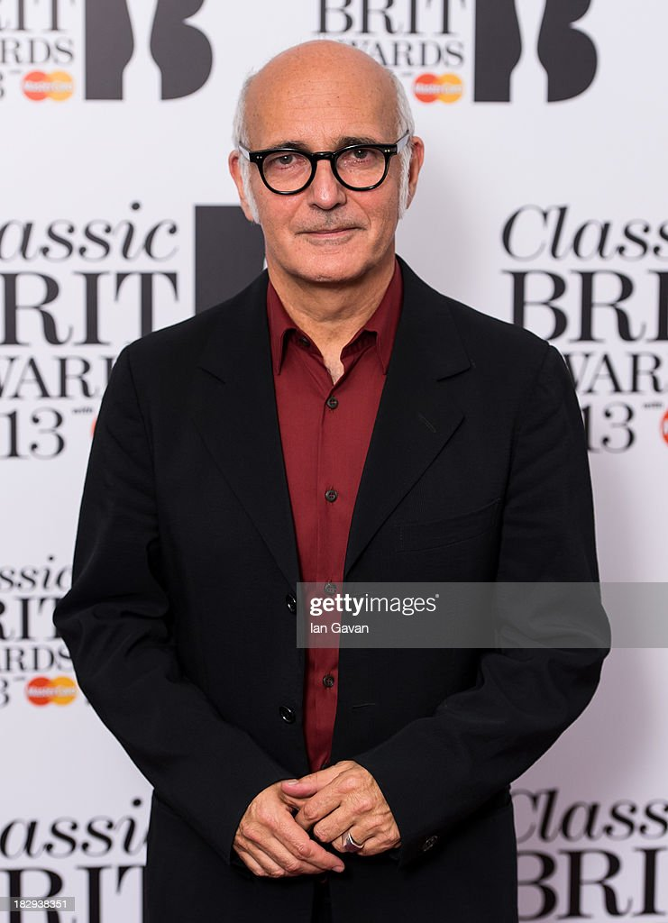 Italian pianist Ludovico Einaudi poses in the winners room at the Classic BRIT Awards 2013 at Royal Albert Hall on October 2, 2013 in London, England.