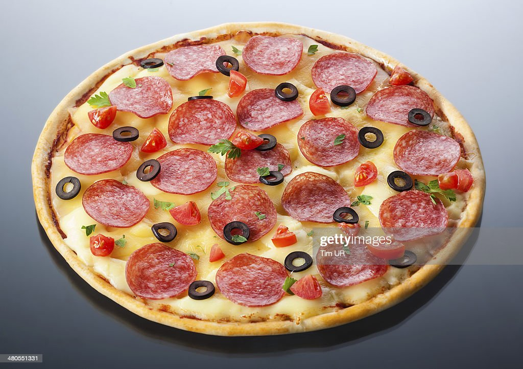 pizza italiana aislado : Foto de stock