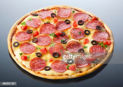 pizza italiana aislado : Foto de stock