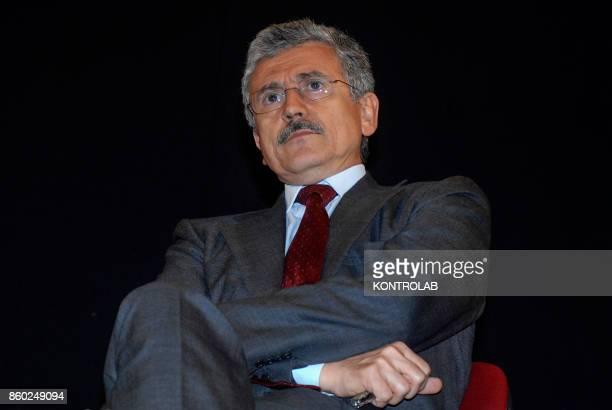 Italian politic Massimo D'Alema the Democratic Party