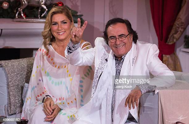 Italian pop duo Al Bano and Romina Power attend the taping of the TV show 'Heiligabend mit Carmen Nebel' on November 27 2014 in Munich Germany