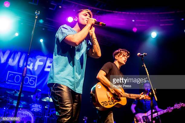 Italian pop duo Benji Fede performs live at Fabrique in Milano Italy