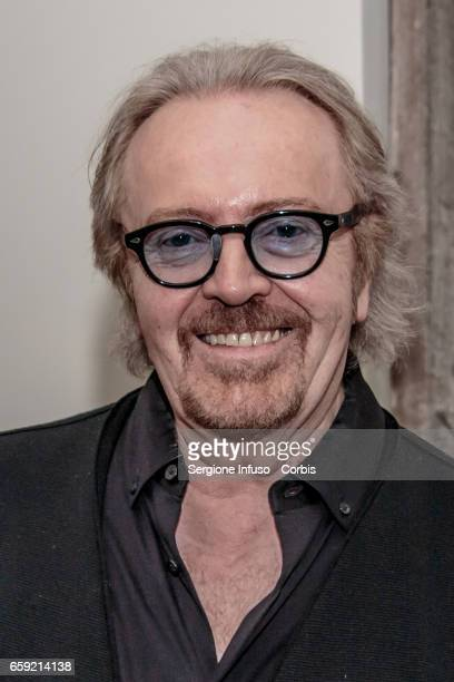 Italian pop rock singersongwriter Umberto Tozzi attends a photocall for the celebration of 40 years of 'Ti amo' and for the presentation of the new...