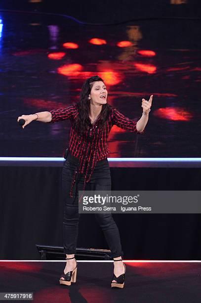 Italian pop singer Elisa performs at the 2015 Wind Music Awards at Arena di Verona on June 4 2015 in Verona Italy