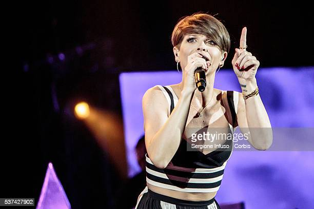 Italian pop/soul singer Alessandra Amoroso performs live at Mediolanum Forum of Assago on May 30 2016 in Milan Italy