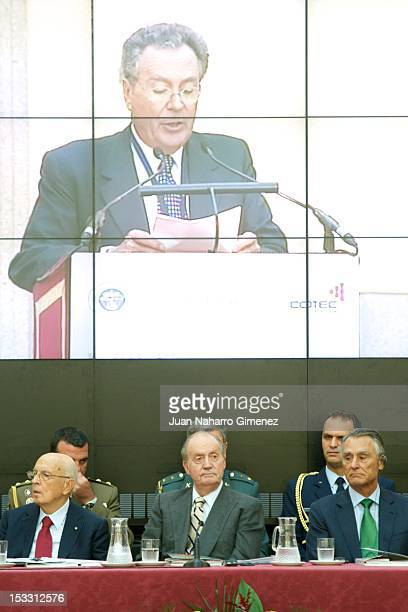 Italian President Giorgio Napolitano King Juan Carlos of Spain and Portuguese President Anibal Cavaco Silva attend COTEC Europa Meeting 2012 at Royal...