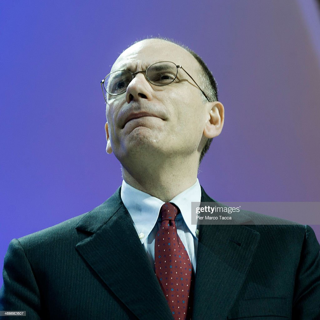 Italian Prime Minister <a gi-track='captionPersonalityLinkClicked' href=/galleries/search?phrase=Enrico+Letta&family=editorial&specificpeople=2915592 ng-click='$event.stopPropagation()'>Enrico Letta</a> attends the EXPO 2015 press conference on February 11, 2014 in Milan, Italy.The exposition will take place in Milan between May 1 and October 31, 2015, and will explore innovation in the area of the food industry.