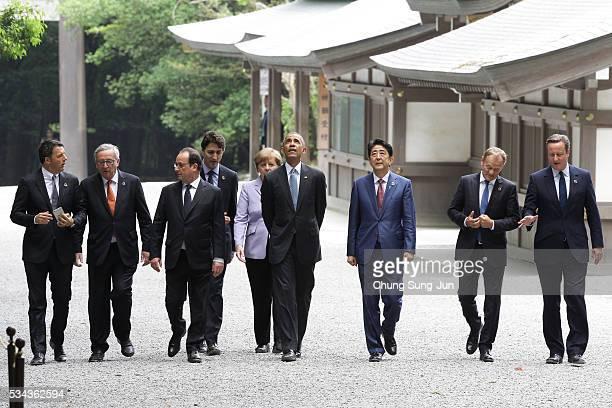Italian Prime Minister Matteo Renzi European Commission President JeanClaude Juncker French President Francois Hollande Canadian Prime Minister...