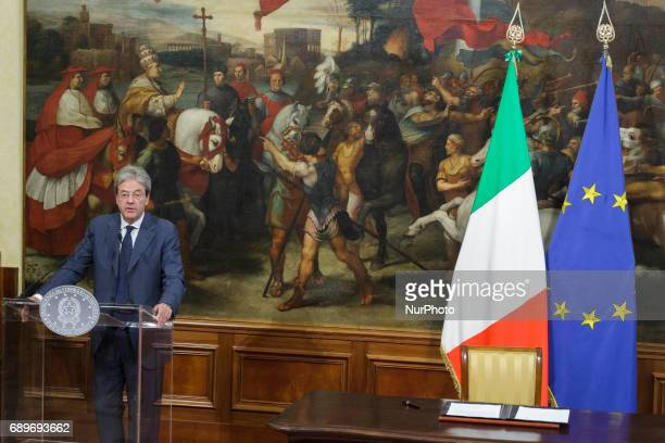 Italian Prime Minister Paolo Gentiloni signs a Presidential Decree for a longterm plan involving considerable resources and investment for growth...