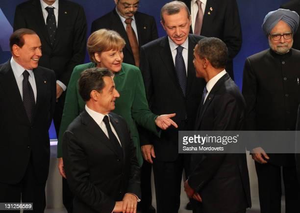 Italian Prime Minister Silvio Berlusconi German Changellor Angela Merkel French President Nicolas SarkozyTurkish Prime Minister Tayyip Erdogan...