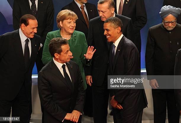 Italian Prime Minister Silvio Berlusconi Nicolas Sarkozy German Chancellor Angela Merkel Turkish Prime Minister Tayyip ErdoganUSPresident Barack...