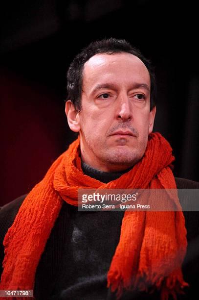 Italian producer Simone Bachini attends the preview of italian director Giorgio Diritti latest film 'Un Giorno Devi Andare' at Cineteca di Bologna on...