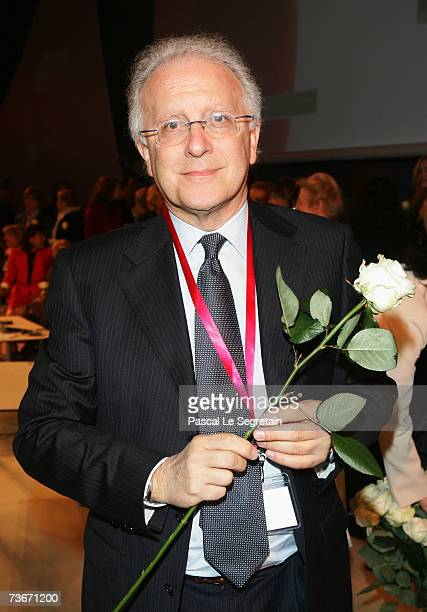 Italian Professor Sergio Pecorelli attends The First Global Summit On Cervical Cancer on March 22nd 2007 at the UNESCO House in Paris France