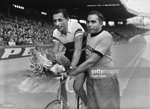 Italian racing cyclist Fausto Coppi late 1940s