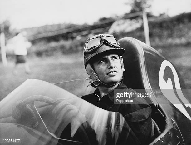 Italian racing driver Maria Teresa de Filippis at the wheel of a Stanguellini Junior at a Formula Junior race circa 1959 She was the first woman to...