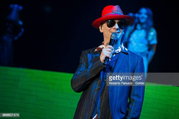 Italian rapper J Ax performs in concert at Assago Milano Forum on April 14 2017 in Milan Italy
