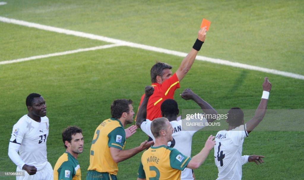 Image result for kewell red card vs ghana