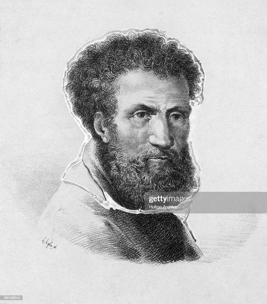 Italian Renaissance artist <a gi-track='captionPersonalityLinkClicked' href=/galleries/search?phrase=Michelangelo+-+Artist&family=editorial&specificpeople=116061 ng-click='$event.stopPropagation()'>Michelangelo</a> di Lodovico Buonarroti Simoni (1475 - 1564), circa 1520.