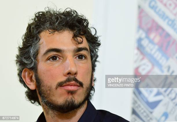 Italian reporter and documentary filmmaker specializing in migrant issues Gabriele Del Grande looks on during a press conference at the Foreign Press...