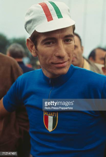Italian road racing cyclist Felice Gimondi pictured during competition to finish in 6th place in the 1968 UCI Road World Championships at Imola in...