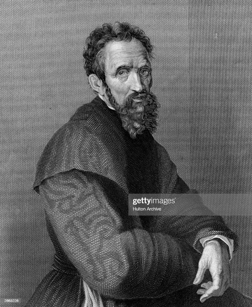 Italian sculptor, painter and architect <a gi-track='captionPersonalityLinkClicked' href=/galleries/search?phrase=Michelangelo+-+Artist&family=editorial&specificpeople=116061 ng-click='$event.stopPropagation()'>Michelangelo</a> Buonarroti (1474 - 1563), circa 1525. Original Publication: People Disc - HA0420