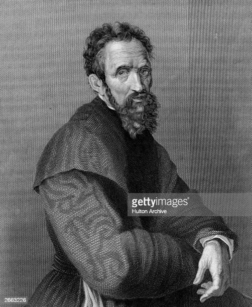 Italian sculptor painter and architect Michelangelo Buonarroti circa 1525 Original Publication People Disc HA0420