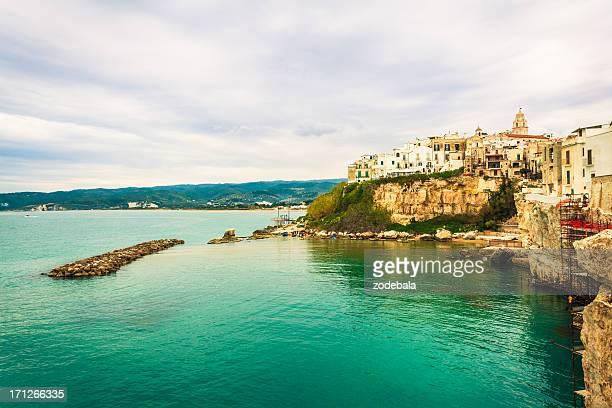 Italian Sea Village of Vieste, Apulia, Southern Italy