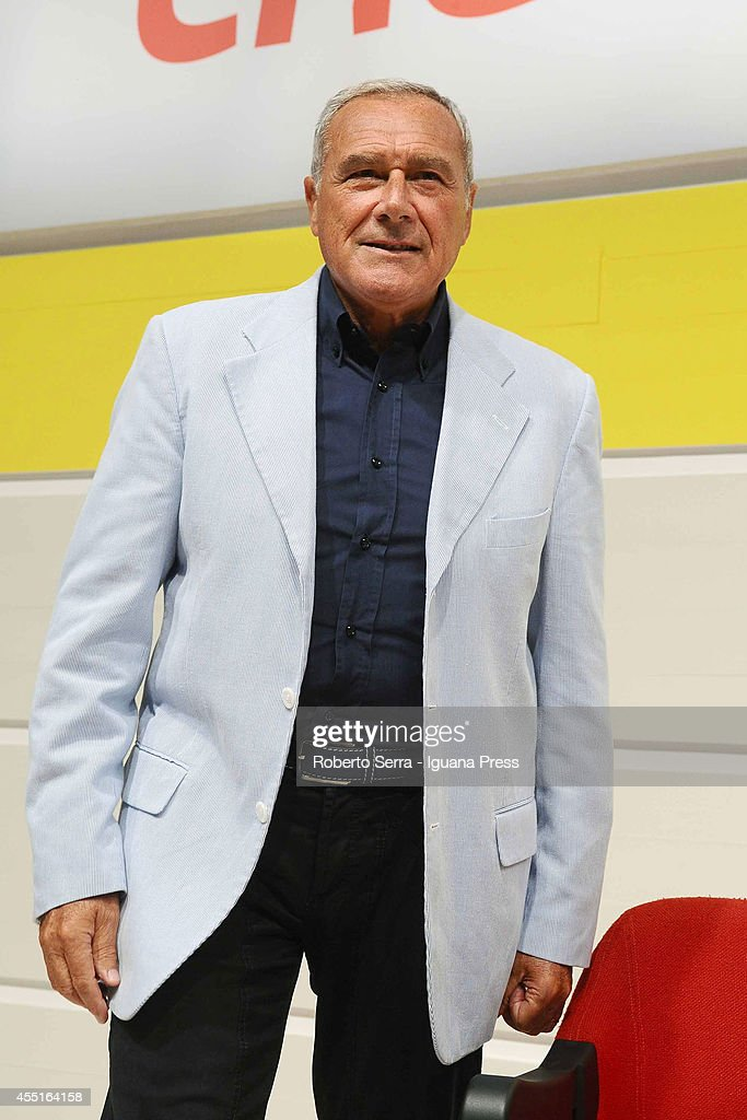 Italian Senate president Pietro Grasso attends a public debate at Festa dell'Unita on September 4, 2014 in Bologna, Italy.
