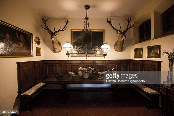 Italian shoe designer Alberto Moretti's home is photographed for Madame Figaro on October 8 2014 in Tuscany Italy CREDIT MUST READ Gaetan...