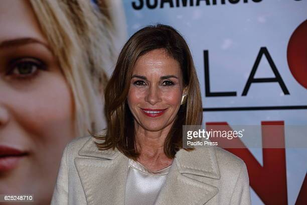 Italian showgirl Cristina Parodi during Red Carpet of film 'La Cena di Natale' directed by Marco Ponti