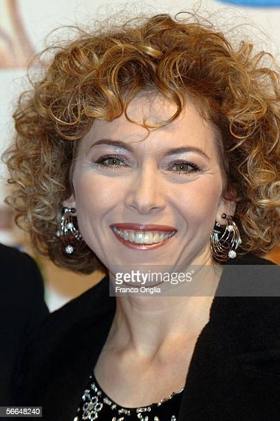 Italian showgirl Irene Pivetti attends the TV Sport Cinema And Music Italian Awards at the Auditorium on January 22 2006 in Rome Italy