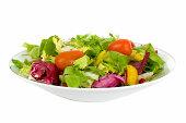 Italian Side Salad low angle no dressing
