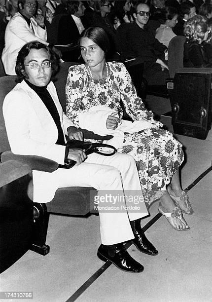 Italian singer Al Bano and his wife Americanborn Italian singer Romina Power taking part in the 6th Venice International Pop Music Festival Romina is...