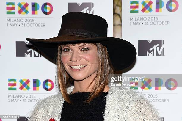 Italian singer Alessandra Amoroso attends Press Conference for Milan city of Expo2015 will host next year MTV EMA show on November 9 2014 in Glasgow...