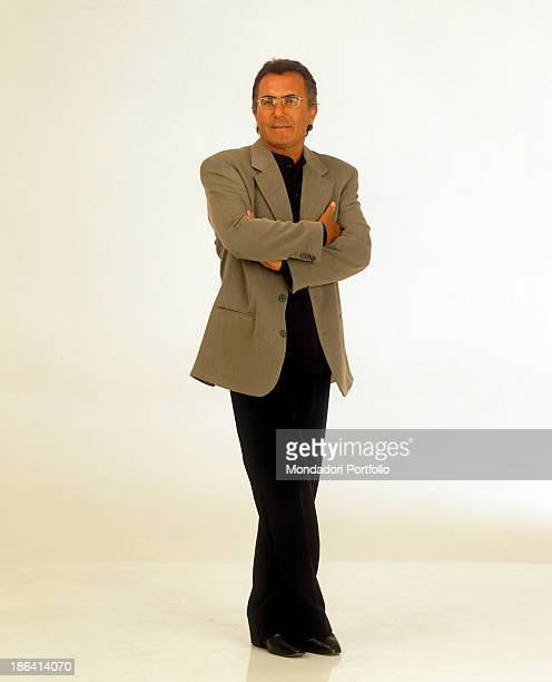 Italian singer and actor Al Bano posing with folded arms 1996