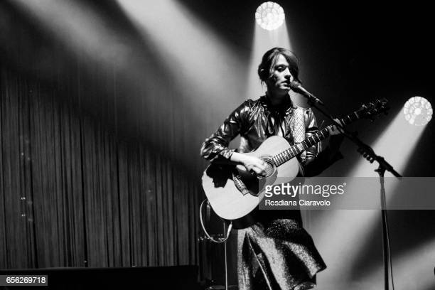 Italian singer and songwriter Carmen Consoli performs live 'Eco di Sirene Tour 2017' at Teatro dal Verme on March 21 2017 in Milan Italy