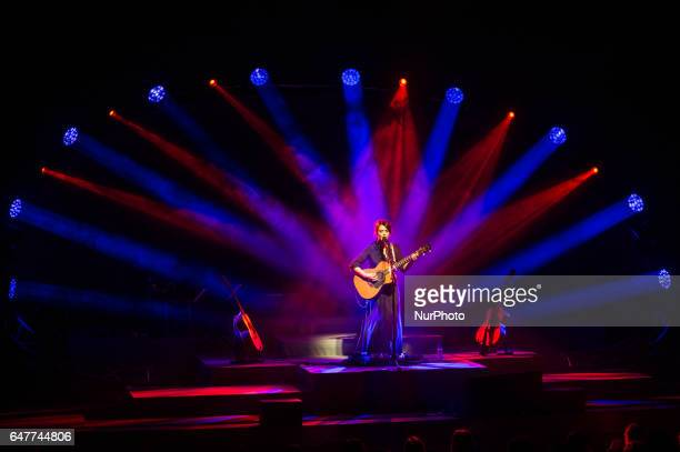 Italian singer and songwriter Carmen Consoli performs live quotEco di Sirene Tour 2017quot at the Auditorium Parco della Musica Rome Italy on 3 March...