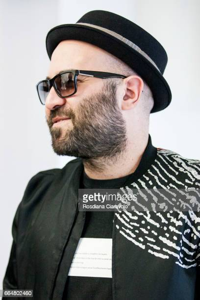 Italian singer and Songwriter Giuliano Sangiorgi attends the presentation of 'Fabio Novembre DesignArchitecture' at Mondadori Store on April 4 2017...