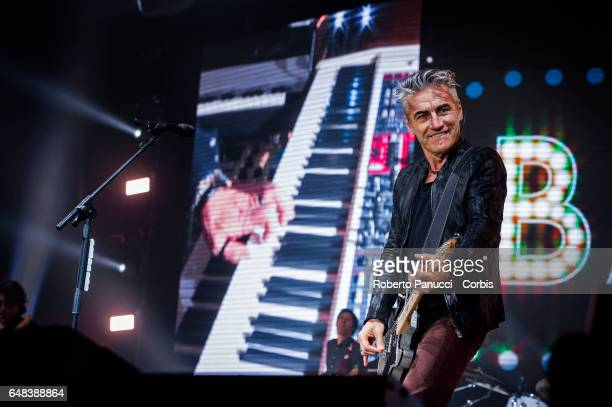 Italian singer and songwriter Luciano Ligabue performs live the Made in Italy Tour 2017 at the PalaMaggiò in Caserta on 04 March 2017
