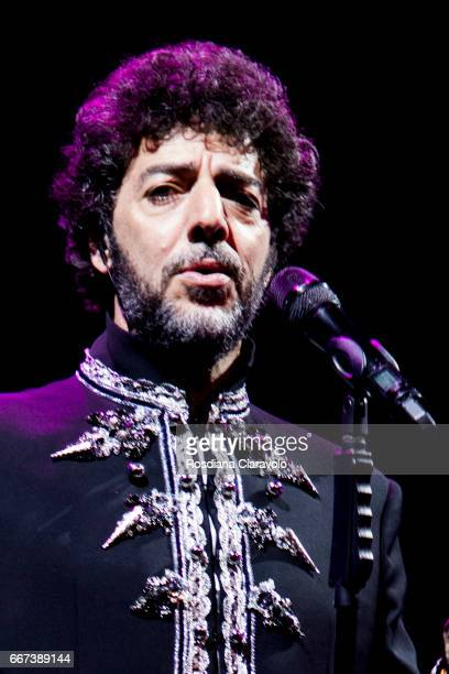 Italian singer and songwriter Max Gazz performs live 'Alchemaya L'Opera Sintonica' at Teatro degli Arcimboldi on April 11 2017 in Milan Italy