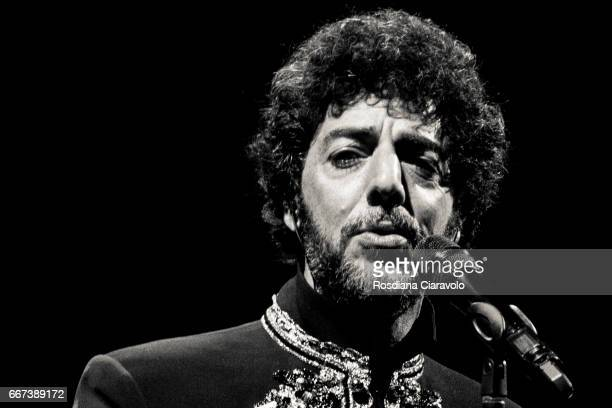 Italian singer and songwriter Max Gazze' performs live 'Alchemaya L'Opera Sintonica' at Teatro degli Arcimboldi on April 11 2017 in Milan Italy