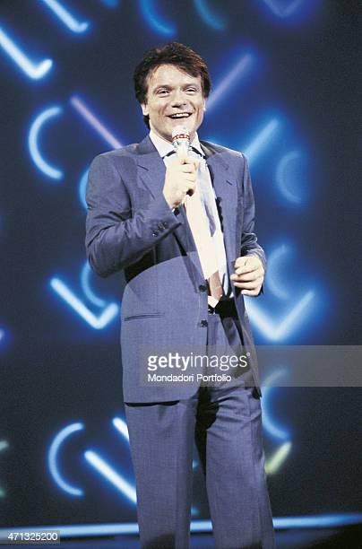 Italian singer and theatre actor Massimo Ranieri performing Italy 1988