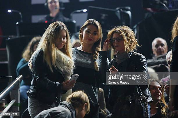 Italian singer Anna Tatangelo attends the Alessandra Amoroso performs at Palalottomatica on December 5 2013 in Rome Italy